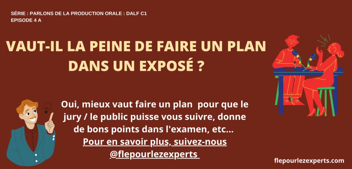 Article 4 (a) : L'IMPORTANCE Du PLAN et les plans chronologique etcomparatif